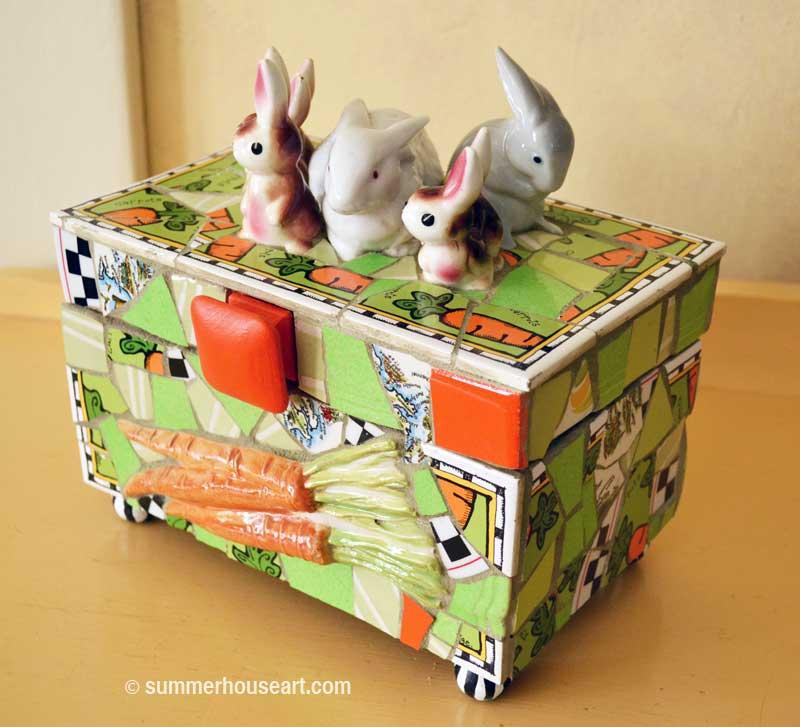 Bunny Box by Helen Bushell summerhouseart.com