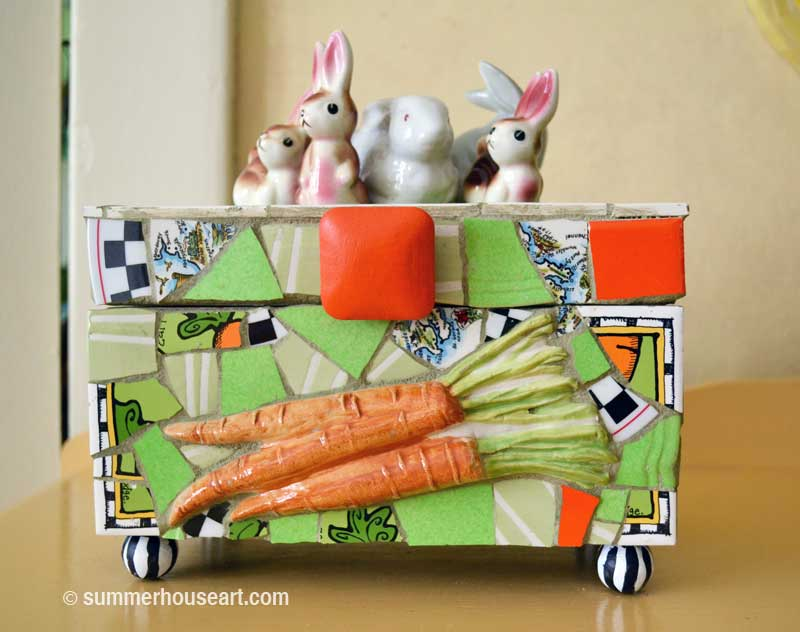 Mosaic Bunny Box