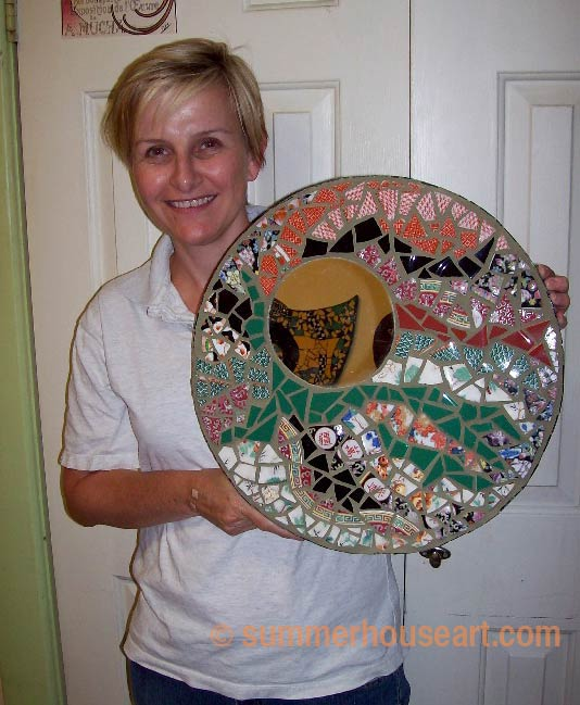 Student Susan at mosaic classes summerhouse.com