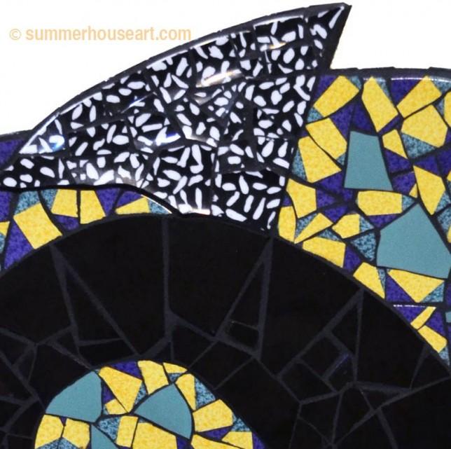 Black Spiral, Red Triangle, Helen Bushell, summerhouseart.com