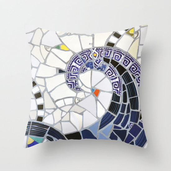 Blue Fandango Pillow Society6 summerhouseart.com