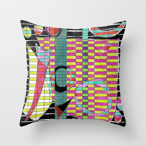 Spreadsheet Tango pillow on by Helen Bushell, Summerhouse Art shop on Society 6