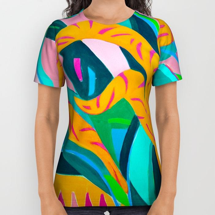 Tropical Delight by Helen Bushell on T shirt in Summerhouse Art shop on Society 6