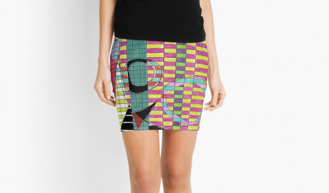 Pencil Skirt,Spread sheet tango by Helen Bushell on Red Bubble