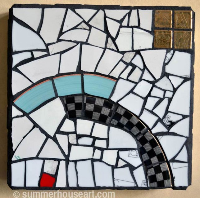 Blue Over mosaic by Will Bushell, summerhouseart.com