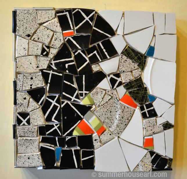 Ungrouted Speckle Mosaic by Helen Bushell, summerhouseart.comshell, summerhouseart.com