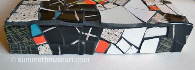 Bottom side Speckled mosaic by Helen Bushell, summerhouseart.com