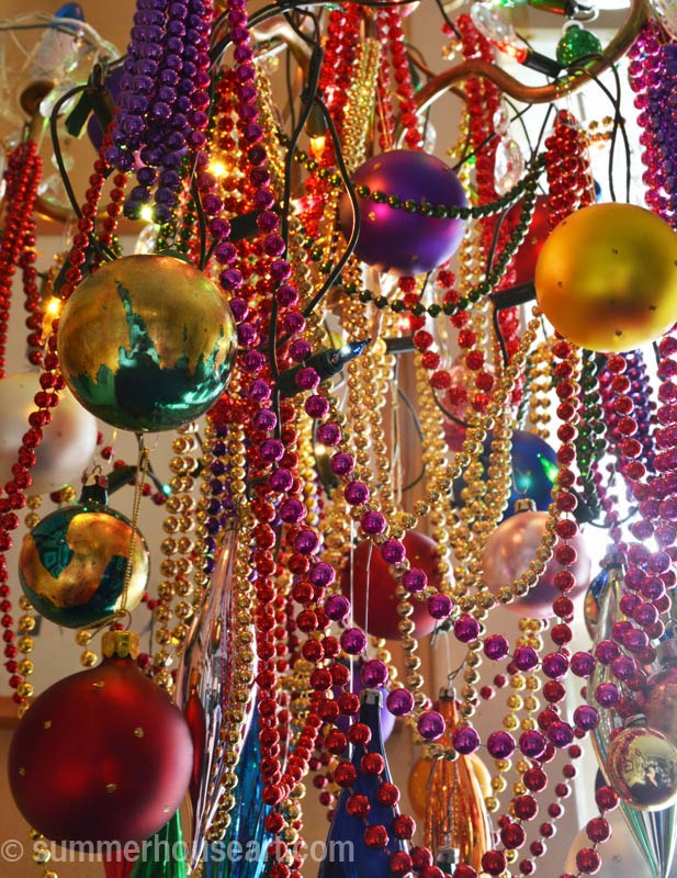 Christmas Chandelier, closeup, summerhouseart.com
