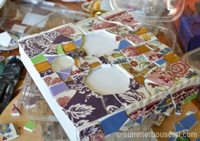 from Floral Patchwork mosaic, Helen Bushell, summerhouseart.com