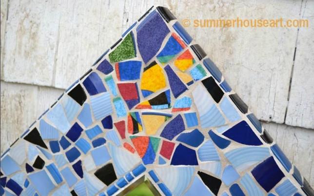 Summerhouseart Student Tanya's mosaic mirror