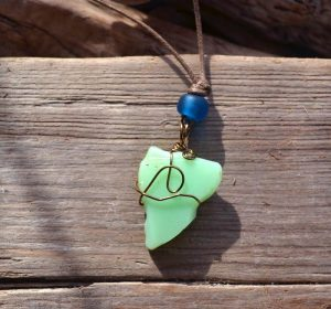 Sea Glass Pendant by Will Bushell, FoundMadeArt
