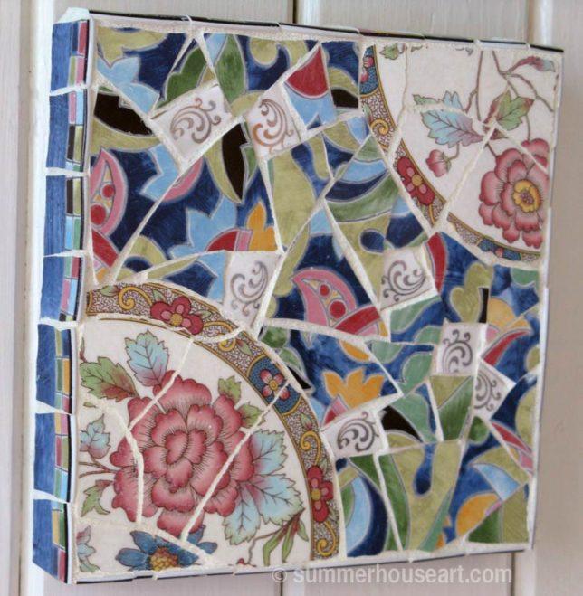 Floral mosaic study, Helen Bushell, summerhouseart.com