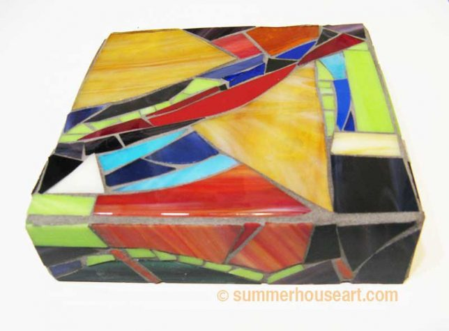 Abstract glass mosaic, Helen Bushell, summerhouseart.com