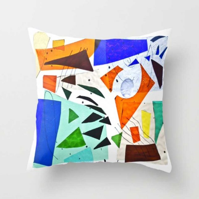 stained glass society6-pillow by summerhouseart.com