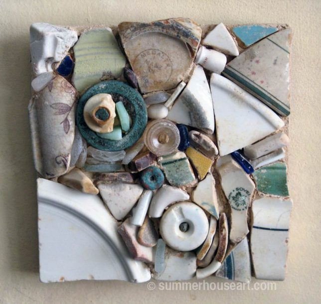 Beach Pottery wall piece, Helen Bushell, summerhouseart.com