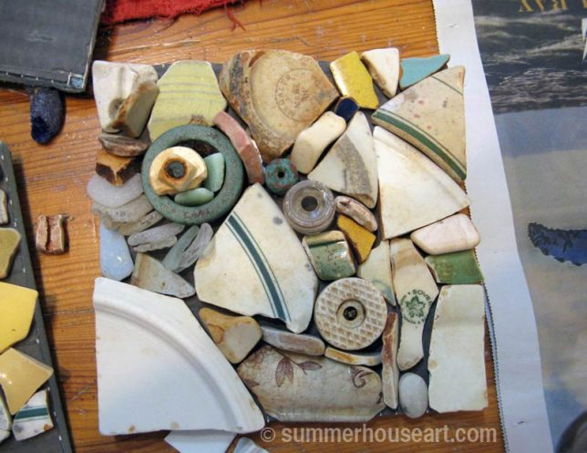 Beach Pottery layout, summerhouseart.com