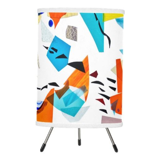 Stained glass tripod lamp on zazzle by Summerhouse Art
