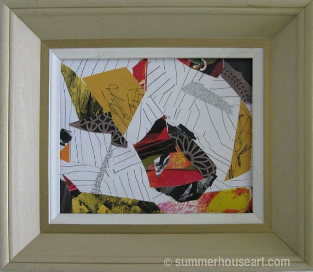 Collage by Helen Bushell, summerhouseart.com