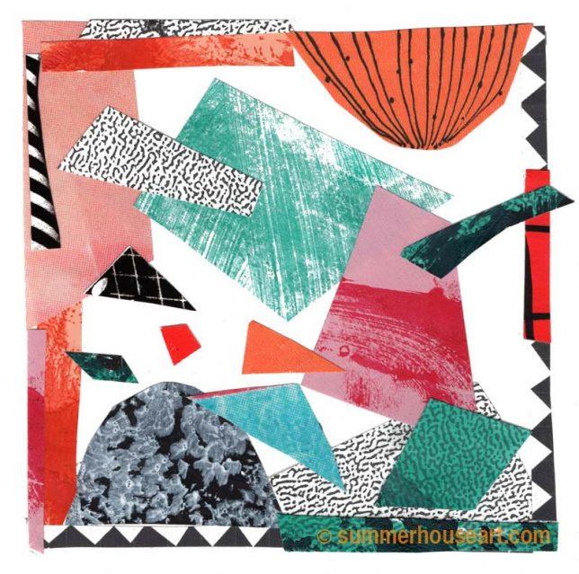 """ paper collage, Helen Bushell, summerhouseart.com"