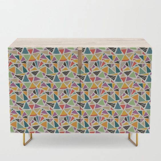Triange Treat Credenza by Summerhouse Art on Society 6