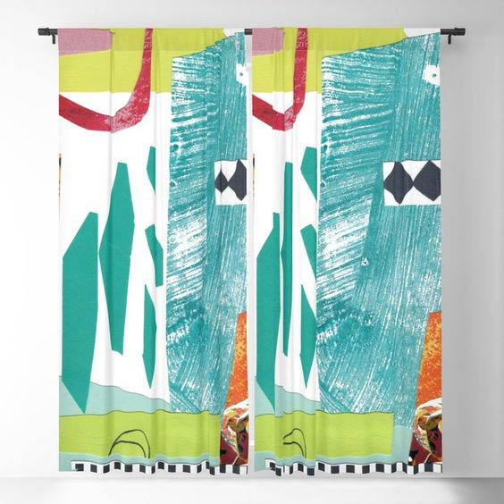 Moving Parts black out curtain by Summerhouse Art on Society 6