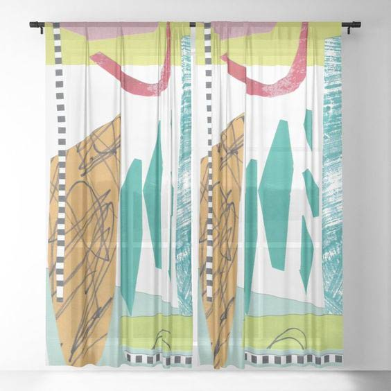 Moving Parts Sheer curtain by Summerhouse Art on Society 6