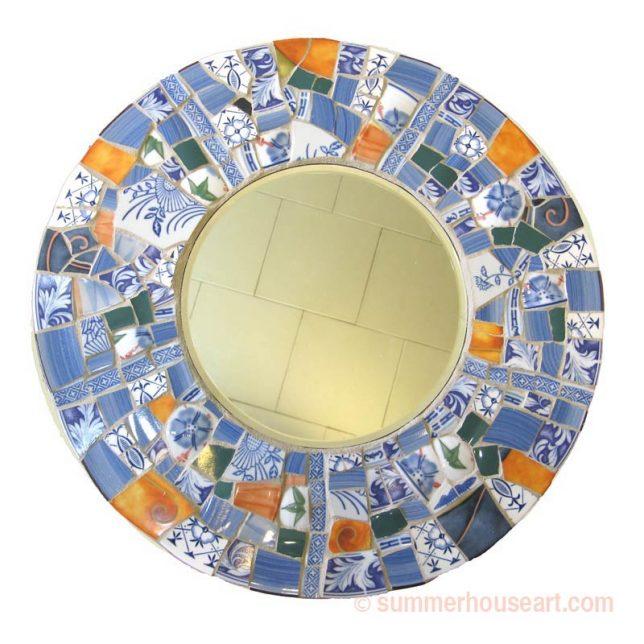 Mosaic Mirror by student Charlotte, summerhouseart.com
