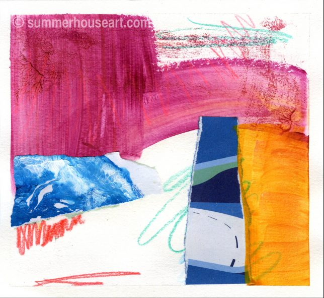 Collage on Paper, by Helen Bushell, summerhouseart.com