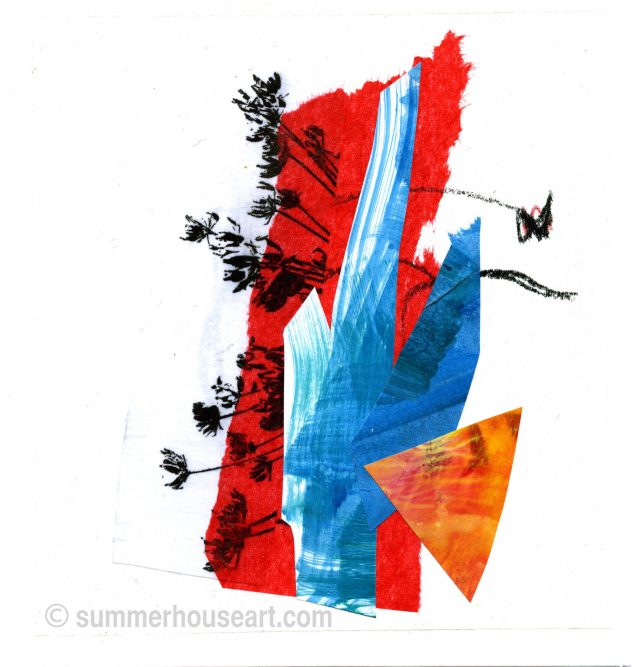 Abstract Paper collage, Helen Bushell, summerhouseart.com